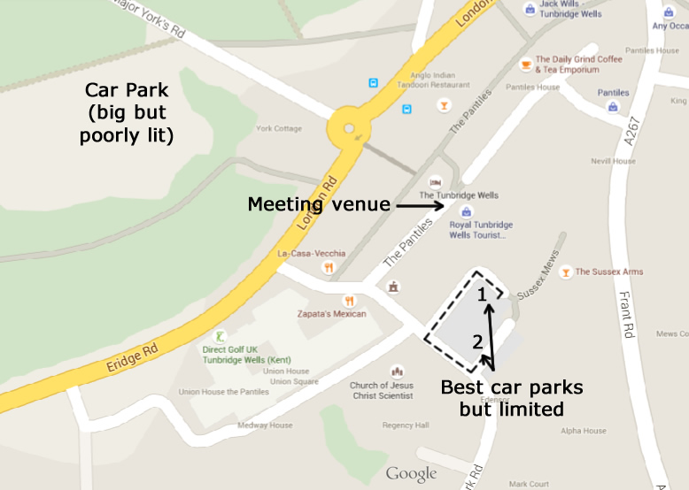 TW Hotel Parking Map