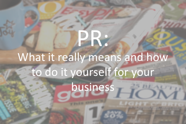 Blog about PR and How to do it for your small business